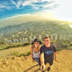 .#GoPro Hiking to the Hollywood Sign