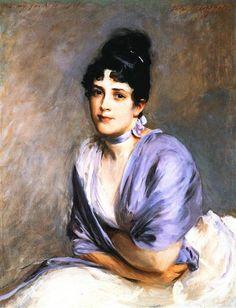 Mrs. Frank Millet, 1886 by John Singer Sargent. Realism. portrait. Private Collection