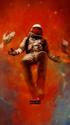 Bird Wallpaper, Galaxy Wallpaper, Astronaut Illustration, Illustration Art, Fullhd Wallpapers, Arte Aries, Astronaut Wallpaper, Aesthetic Space, Space Artwork