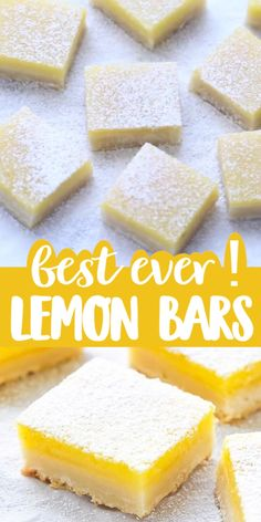 The best classic easy lemon bars with shortbread crust recipe buttery crust and fresh and tangy lemon curd on top simple dessert you can make any time of the year! Lemon Dessert Recipes, Easy Desserts, Sweet Recipes, Easter Recipes, Dessert Recipe Video, Desserts With Lemon, Recipes With Mango, Desserts With Condensed Milk, Recipes With Lemon Curd