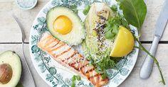 I tillegg til avokado, eggeplommer og parmesan. Avocado Egg, Parmesan, Peru, Ramen, Chili, Breakfast, Ethnic Recipes, Food, Chicken