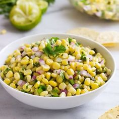 Calling all Chipotle lovers! This corn salsa recipe has two key ingredients that give it the same irresistible flavor as Chipotle's. Find the recipe #ontheblog