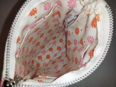 Pink and Orange Pouch Handmade by JustMichelle by JustMichelleInc, $18.00