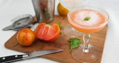 Heirloom Tomato Cocktail - a little bit like a gin gimlet with tomatoes and mint muddled in