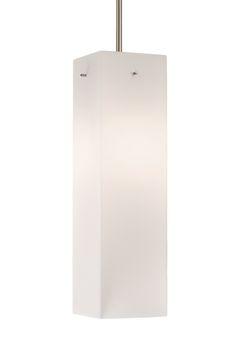 40381 - Single Lamp Pendant with Opal Rectangular Glass Pendant Lamp, Opal, Lighting, Glass, Home Decor, Homemade Home Decor, Light Fixtures, Drinkware, Opals