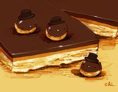 ショートブレッドの上にキャラメルトフィー、チョコレートをかけた豪華なお菓子。名前がすごい。