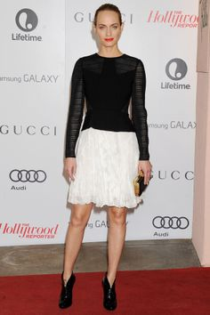 Hollywood Reporter Women in Entertainment Breakfast, California – December 11 2013  Amber Valletta wore a top and skirt by Jason Wu.