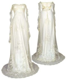 Search Used Wedding Dresses & PreOwned Wedding Gowns For Sale Medieval Wedding, Medieval Gown, Bridal Gowns, Wedding Gowns, Medieval Fashion, Renaissance Clothing, Fantasy Dress, Vintage Gowns, Gowns Of Elegance