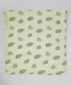 Look what I found on #zulily! 44'' X 44'' Green Turtles Muslin Swaddling Blanket by Bambino Land #zulilyfinds