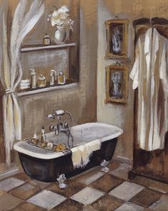 French Bath by Silvia Vassileva (was born In Plovdiv, the 2nd large city In Bulgaria; based In CA, US since 1996)