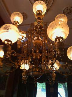 Calhoun mansion light fixture right as you enter home