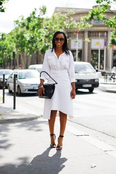 @Shionat sleek & chic per usual in #Paris. captured by @atprettybirds