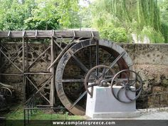The Open Air Water Museum is located in the old industrial area (early century) of Edessa. The museum aims to show to the visitor the history of the use of water power. Pella Greece, Macedonia Greece, Water Powers, Greece Travel, Travel Guide, Travelling, Landscapes, Greek, Old Things