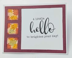 Paper Scraps – – Again! | MaryGunnFunn.com fall card, CTMH die, hello card, fall leaves