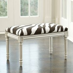 Zebra Needlepoint Bench by Ballard Designs  I  ballarddesigns.com