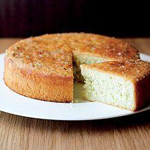 Soaked Citrus Sponge Cake. Low calorie cake
