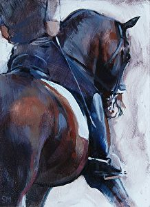 Hot off the Easel & Upcoming Dressage at Hickstead | Sally Martin's Art Studio News