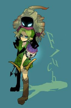 Majora's Mask. Lol Link looks annoyed.