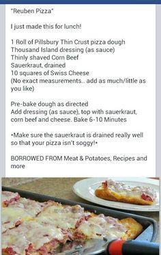 Must do Reuben pizza!
