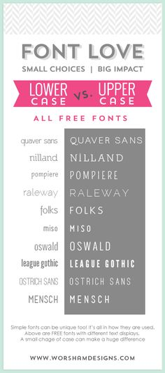 10 FREE Simple Fonts  |  Worsham Designs
