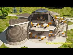 Купольные дома - YouTube Environmental Architecture, Organic Architecture, Cottage Floor Plans, House Plans, Sci Fi Wallpaper, Dome House, Tiny House Cabin, Natural Building, Geodesic Dome