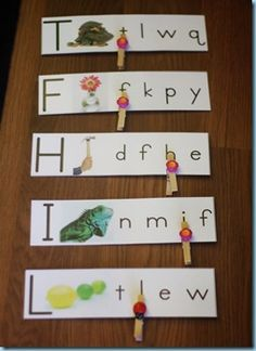 I typically do not use worksheets in my classroom but I will but them out, laminate and make games out of them for fun and learning, keeps the children engaged and develops fine motor and critical thinking, this is a good example of cutting a worksheet into game strips - worksheets can also be copied onto cardstock before trimming and covered with clear contact paper