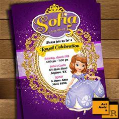 Sofía la primera invitación Sofía el primer por ArtAmoris en Etsy
