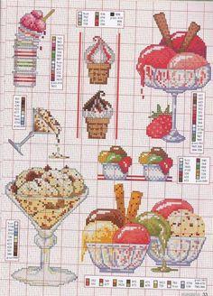 Cross Stitch Fruit, Cross Stitch Kitchen, Cross Stitch Love, Cross Stitch Charts, Cross Stitch Designs, Cross Stitch Patterns, Cross Stitching, Cross Stitch Embroidery, Hand Embroidery