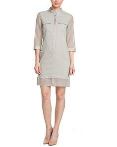 Elie Tahari Austin Sahara Khaki Dress. This looks very interesting! Love the design