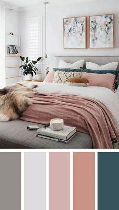 Inspiring Chic Home Color Schemes And Decorations To Get An Pretty Interior - Bedroom inspirations - Dream Bedroom, Home Decor Bedroom, Modern Bedroom, Contemporary Bedroom, Spare Room Decor, Pink Master Bedroom, Bedroom Romantic, Stylish Bedroom, Bedroom Small