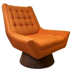 The PERFECT chair for my living room. Jonathan Adler Whitaker Chair In Stockholm Saffron in Side Chairs Cool Furniture, Furniture Design, Modern Furniture, Furniture Chairs, Bedroom Furniture, Take A Seat, Mid Century Furniture, Side Chairs, Dining Chairs