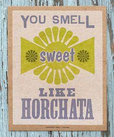You Smell Sweet Letterpress Print | Starshaped Press