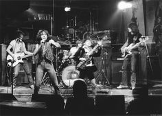 ACDC performing in New York City, 1977. Photo by Bob Gruen.