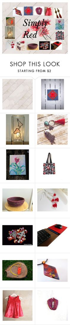 """""""Simply Red: Fashion and Home Decor in Red"""" by paulinemcewen ❤ liked on Polyvore"""