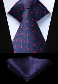 Gifts For Men Classic Mens Stripe Check Striped Checked Silk Tie Mid Blue White Moderne Techniken Herren-accessoires