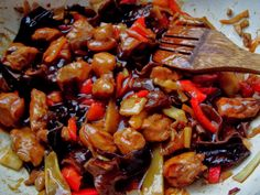 Asian Recipes, Ethnic Recipes, Kung Pao Chicken, Carne, Lunch, Homemade, Baking, Food, Romanian Recipes