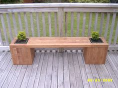 Kwila planter bench - HOME SWEET HOME - Knitting, sewing, crochet, tutorials, papercraft, jewlery, needlework, swaps, cooking and so much more on Craftster.org