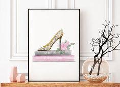 """Printable Fashion Art """"Schuhe - Coco Chanel"""", Fashionprint, Digitaler Download, Wallart / Poster zum Ausdrucken"""