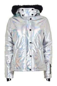 **Holographic Ski Jacket by Topshop SNO