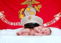 Newborn photoshoot marine corps