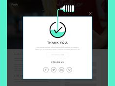 Refreshing thank you modal by Mark Unger - Dribbble