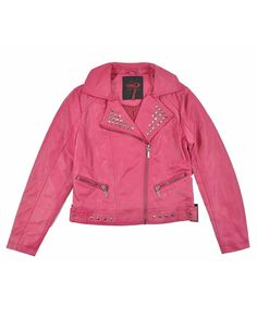 Jacket before being painted Yoki Girls Fuchsia Faux Leather Jacket (6X) Sold by: Joker Kids $24.99  Purchased on Amazon Prime