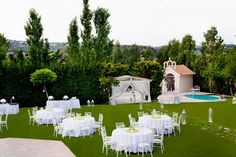 Wedding ceremony and reception in the garden. Athens Greece