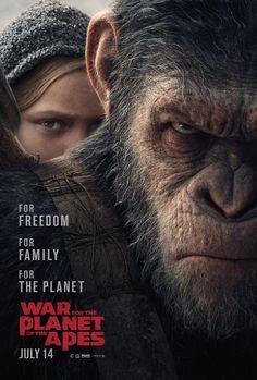 Nuevo poster de War for the Planet of the Apes. ¡Y puedes ver el nuevo trailer si visitas el enlace!