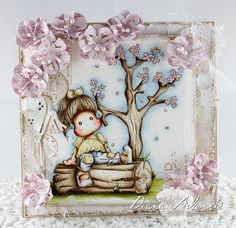 ♥ DeeDee's Card Art ♥ Stamp is calles Resting Tilda by Magnolia, Scene stamps are also by Magnolia - Papers by MajaDesign