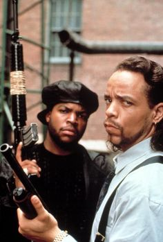 Ice T and Ice Cube in Trespass which was originally named Looters but was changed after the LA riots.