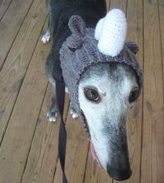 Lazy Rhino Crochet Greyhound Snood by TheGallantGreyhound on Etsy
