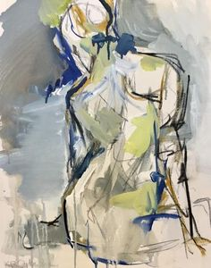 Tuck by Kelley Ogburn, Mixed Media on Canvas Vertical Abstract Nude Painting Art And Illustration, Figure Painting, Figure Drawing, Body Painting, Art Alevel, Figurative Kunst, Atelier D Art, Human Art, Life Drawing