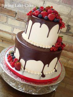 Ganache And Fresh Fruit — Birthday Cakes cakepins.com