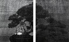 Katsutoshi Yuasa. Aesthetics of 1/2 #1. woodcut. 28cm x 45cm. 2016